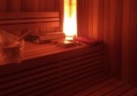 Оригинальное освещение бани