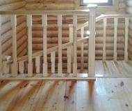 Прямая лестница с площадкой 2