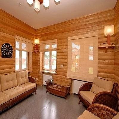 Блок хаус деревянный в интерьере дома